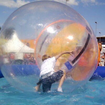 Aqua Water Walking Ball Wasserlaufball mieten einzeln ohne Pool