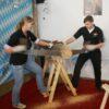 Baumstammsägen bayrisch mieten Kräftemessen nach bayrischer Tadition