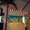 Beachparty Bambustheke Thekenelement DJ Pult Infostand Verpachtung