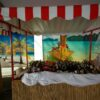 Beachparty Bambustheke Thekenelement Verkausfstand Getränkestand FOH Miete