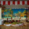 Beachparty Dekovorhang Steg Gestaltungselement Vermietung