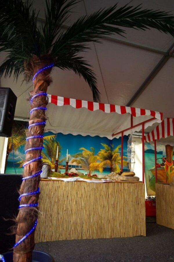 Beachparty Dekovorhang Steg Wandbild Dekoration Buchung
