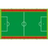 Bodenplane in Spielfeldoptik zum Schutz des Untergrunds passend für Menschenkicker XL - Soccer Court XL - Hockey Court XL