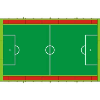 Bodenplane in Spielfeldoptik zum Schutz des Untergrunds passend für Menschenkicker XL - Soccer Court XL - Hockey Court XL