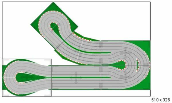 Carrera Rennbahn Aufbauplan individuell Gestaltbar Mieten
