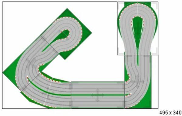 Carrera Rennbahn facettenrieche Aufbaumöglichkeiten Strecke Vermietung