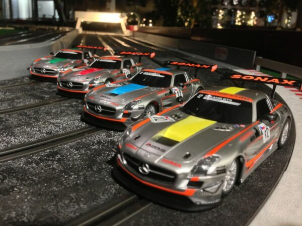 Carrera Rennbahn Pachten Mercedes orignal Nachbau Racing Mieten