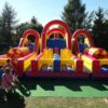 Challengeparkour Hüfburg Vermietung Kinder Freude Sommer Party