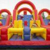 Challengeparkour Kinderaction Firmenfeier Aufblasbarer Hürdenparcours
