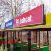 City Bahn Jumbo grün gelb Werbeflächen Werbetafeln