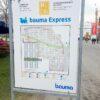 City Bahn Jumbo rot gelb Fahrplan bauma Express Messebahn mieten