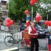 Dampf Velo Luftballonstand Ausgabestelle für Heliumballons