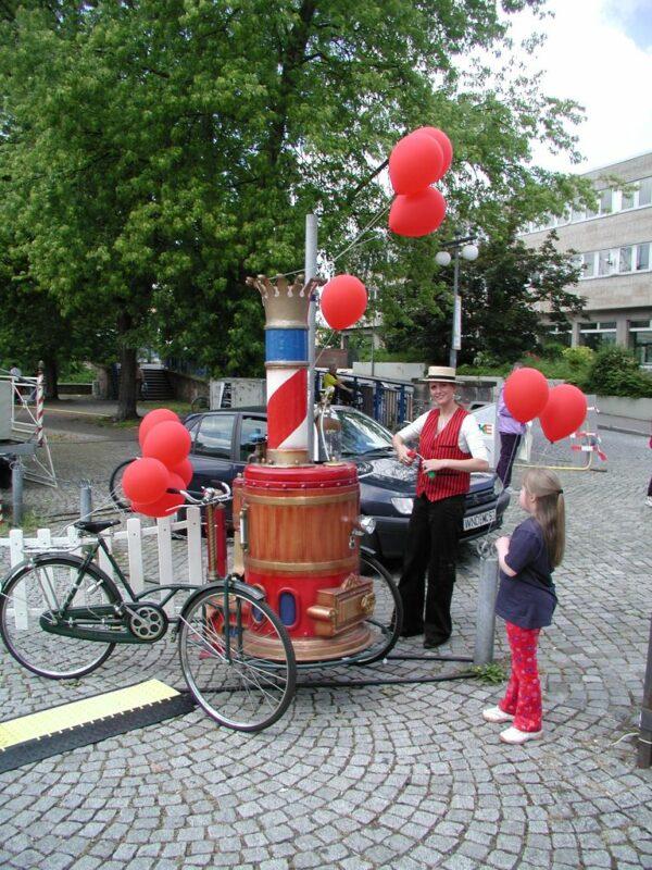Dampf Velo Luftballonstand Rundballons Ballonweitflug