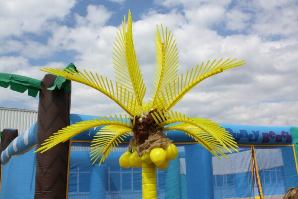 Deko Palme gelb XL Ausstattung Beachparty Miete