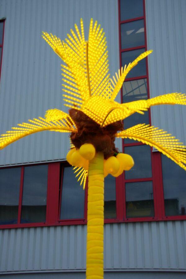 Deko Palme gelb XL Dekorationselement Hawaiparty Vermietung