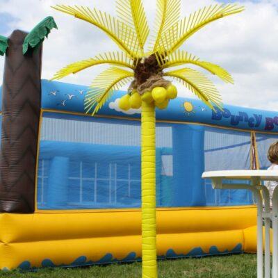 Deko Palme gelb XL Kokosnüsse Pacht Strandelement Outdoor