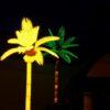 Deko Palme gelb XL leuchtend Nachtdeko Verpachtung