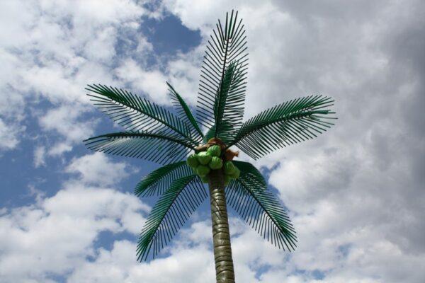 Deko Palme grün XXL Beachparty Verpachtung Dekoelement Leuchtend