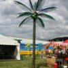 Deko Palme grün XXL Kokosnüsse Strandfeier Pacht