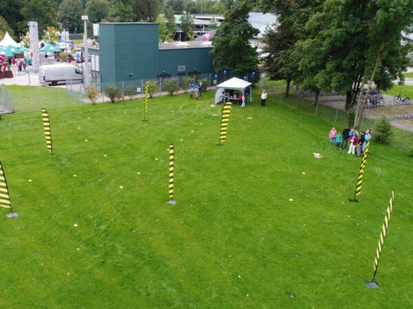 Drohnen Parcours FPV mieten outdoor mit Promotionzelten Drone Racing