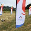 Drohnen Rennen mit Mini Fun Drohnen mieten Branding Beachflag Werbefläche