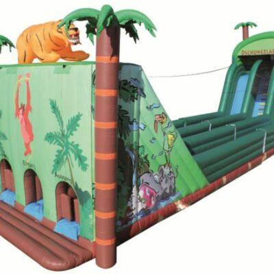 Dschungelabenteuer - aufblasbare Seilbahn Action for Kids Vermietung