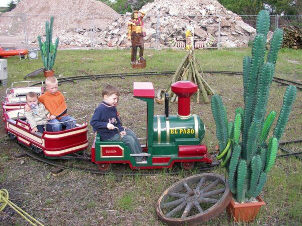 El Paso Schieneneisenbahn für Kinder mit optionaler Westerdekoration Wild West
