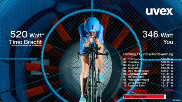 Energy Bike Physik - Auswertungsbildschirm