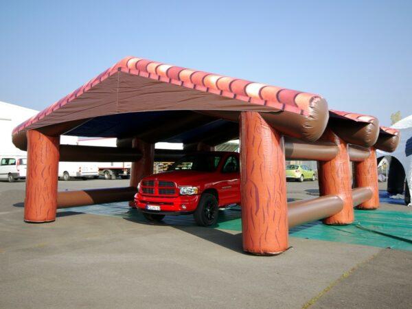 Event Dome Blockhaus mieten aufblasbares Zelt