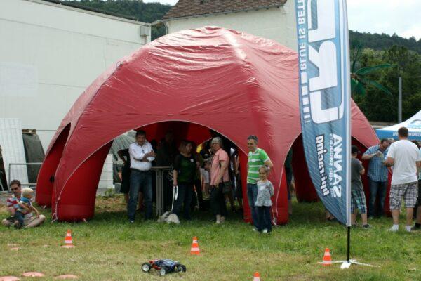 Event Dome Eventzelt aufblasbar neutral rot