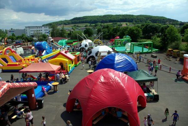 Event Dome Zelt neutrales Design rot