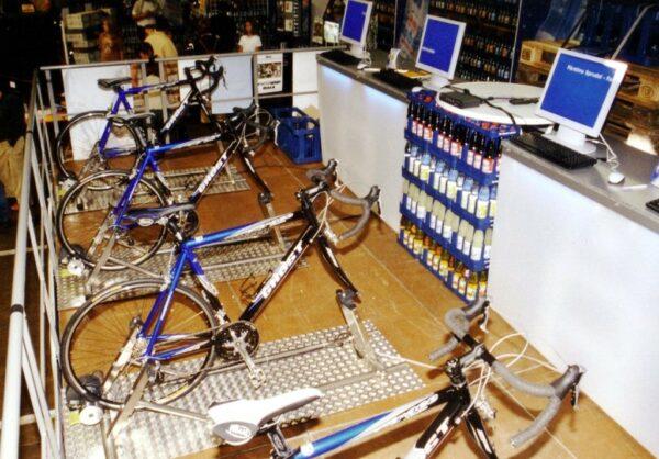 Fahrradsimulator 4er Modul mieten Cityräder