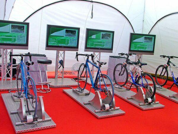 Fahrradsimulator 4er Modul mieten Trekkingbikes oder Pedelecs