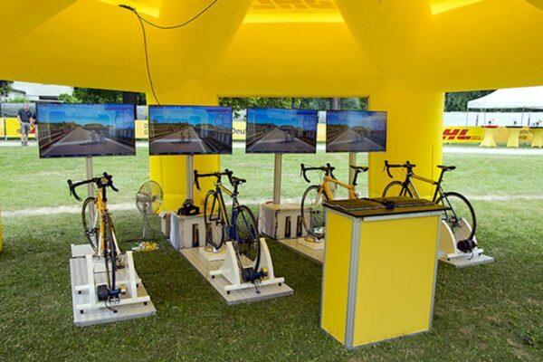 Fahrradsimulator 4er Modul mieten mit 4 Fahrrädern oder E-Bikes