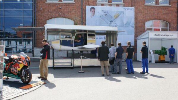 Flugsimulator Cessna inmotion Anhänger Trailer