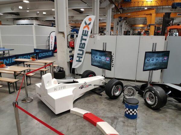 Formel 1 Challenge Simulator wenig Platzbedarf Messeinsätze