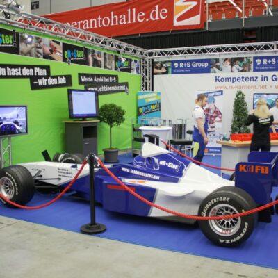 Formel 1 Racing Simulator blau-weiss mieten