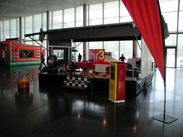 Formel 1 Rennsimulator rot weiss Verleih