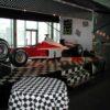 Formel 1 Rennsimulator rot weiss Vermietung