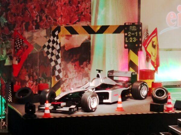 Formel 1 Rennsportdekoration mieten
