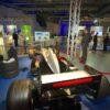 Formel 1 Simulator schwarz silber F1 Racing Simulator mieten