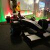 Formel 1 Simulator schwarz silber Kick Off Event F1 Pole Position Dekoration