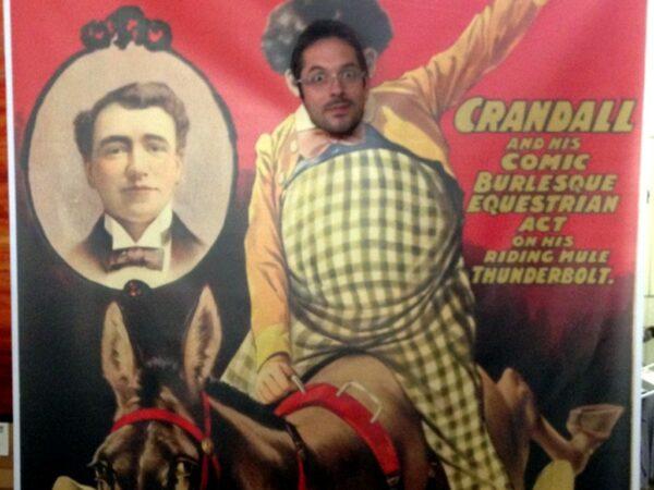 Fotowand Circus Esel mit Reiter
