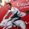 Fotowand Circus Schwein mit Reiter