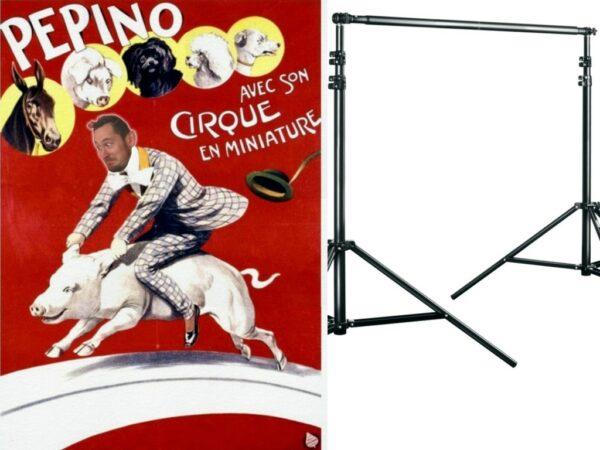 Fotowand Circus Schwein mit Reiter komplett