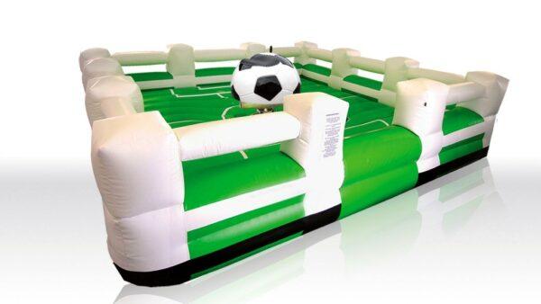 Fußballrodeo Soccer Rodeo Bullriding mit Fussballaufsatz und Fallkissen in Spielfeldoptik