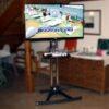 Gaming Staion mit Wii Spielkonsole mieten inkl. 50''-LCD-Display auf edlem Aluständer