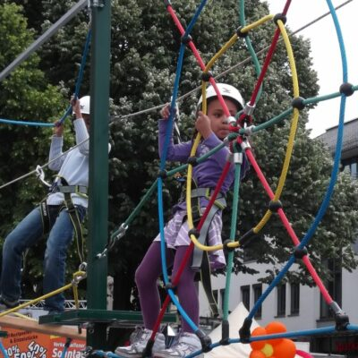 Hochseilgarten mobil Kids auf Anhänger Vermietung