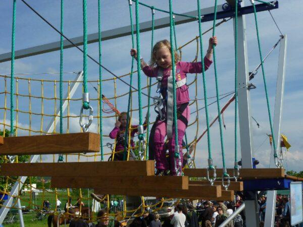 Hochseilgarten mobil für Kinder
