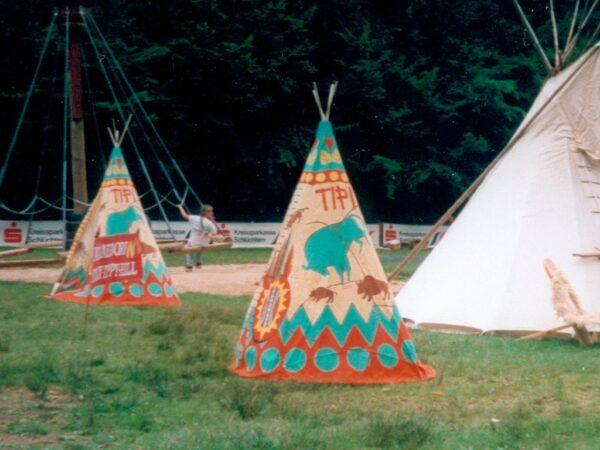 Indianer Kinderdorf Tipizelte